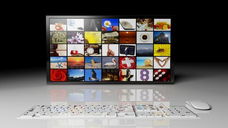 HD a grande schermo illustrazione di stock