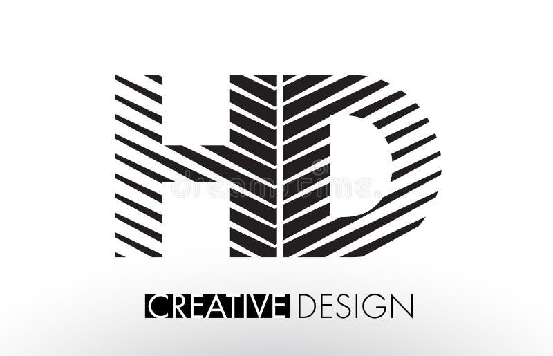 HD H D alinea diseño de letra con la cebra elegante creativa libre illustration