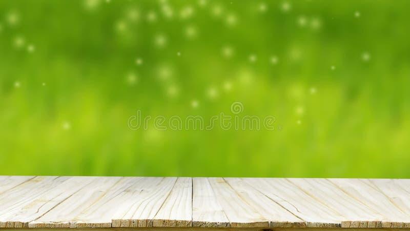 Holzfußboden Natur ~ Hd holzfußboden mit leerstelle und grünem hintergrund bokeh blatt