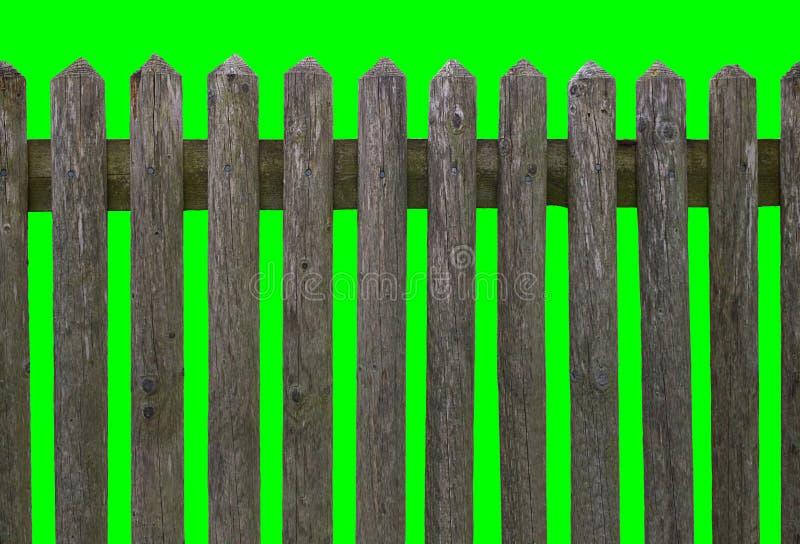 HD horizontal seamless weathered wooden fence stock photo