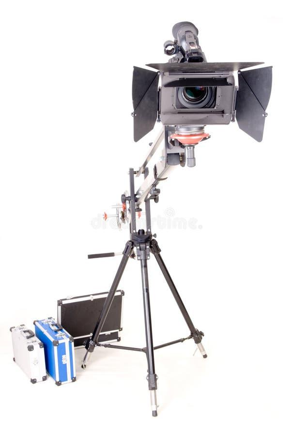 Hd Kamerarecorder auf Kran stockfotos