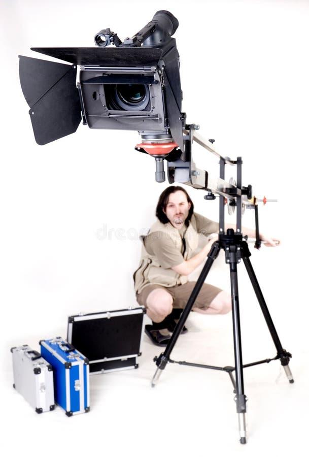 Hd Kamerarecorder auf Kran stockbild
