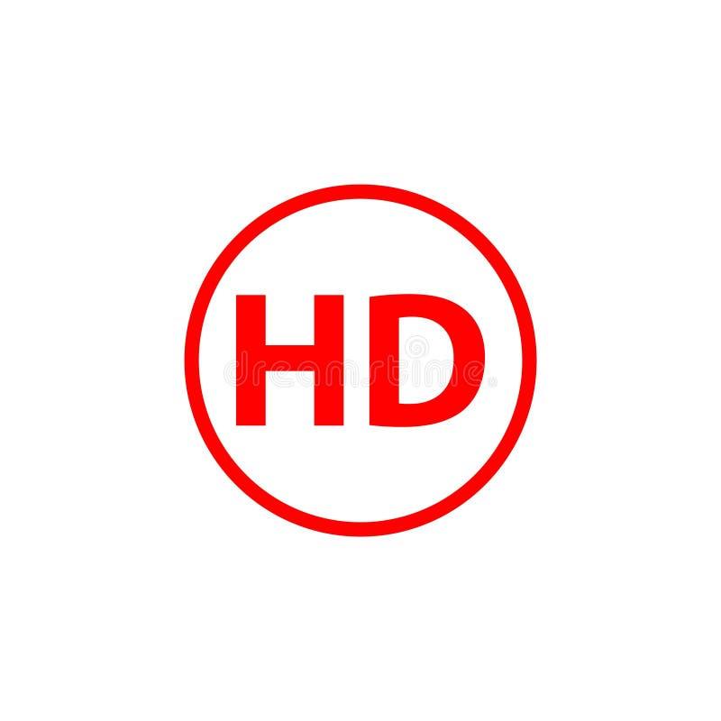 HD Logo Vector Template Design Illustration stock illustration