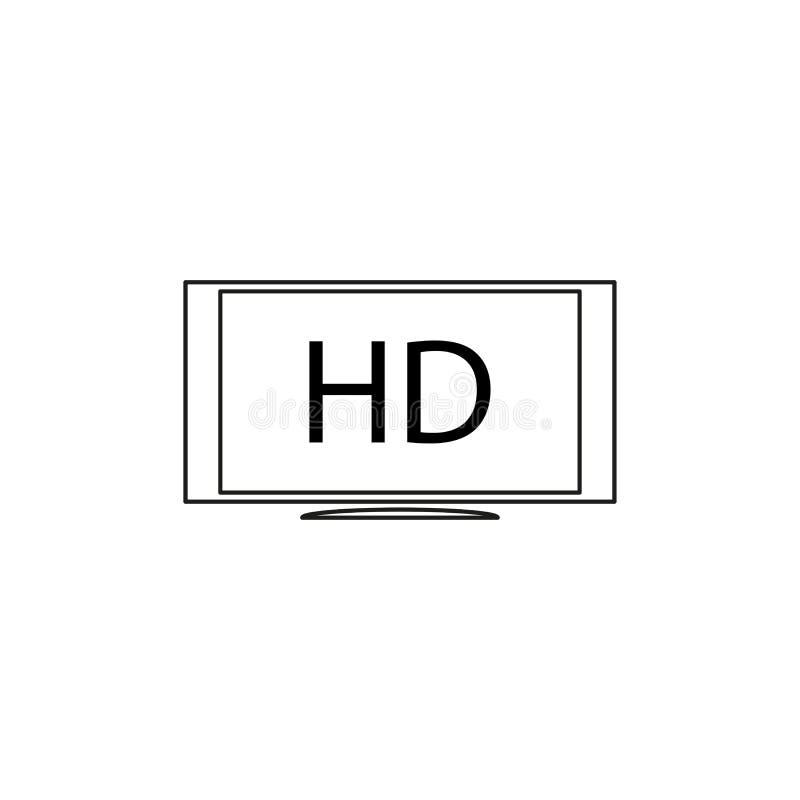 hd monitor icon vector illustration