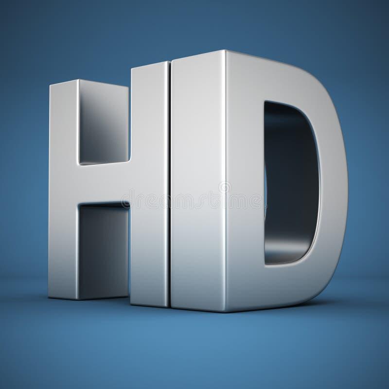 HD na błękicie ilustracji