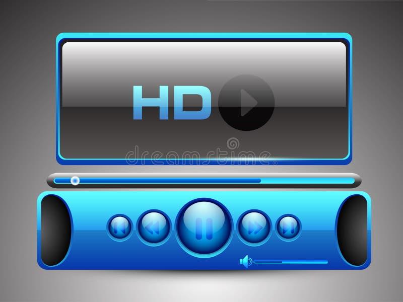 HD odtwarzacz mp3. ilustracja wektor