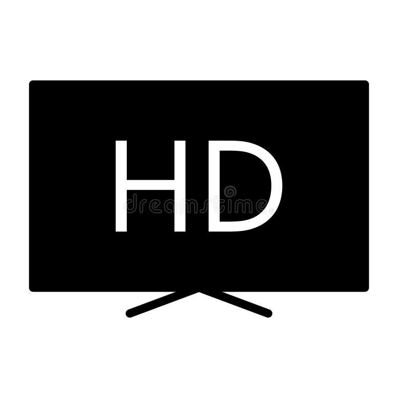 Hd sylwetki telewizyjna ikona TV, wideo symbol również zwrócić corel ilustracji wektora ilustracji