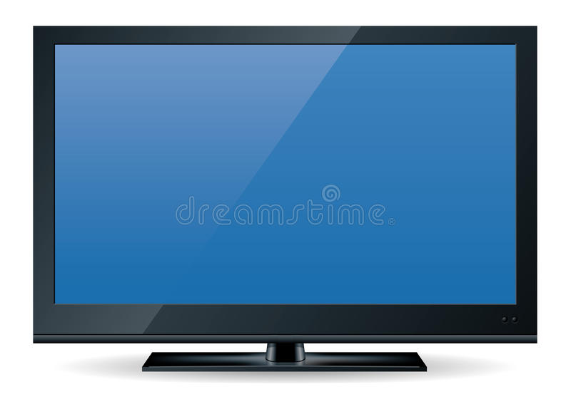 Download HD television set 1 stock vector. Illustration of plasma - 11656190