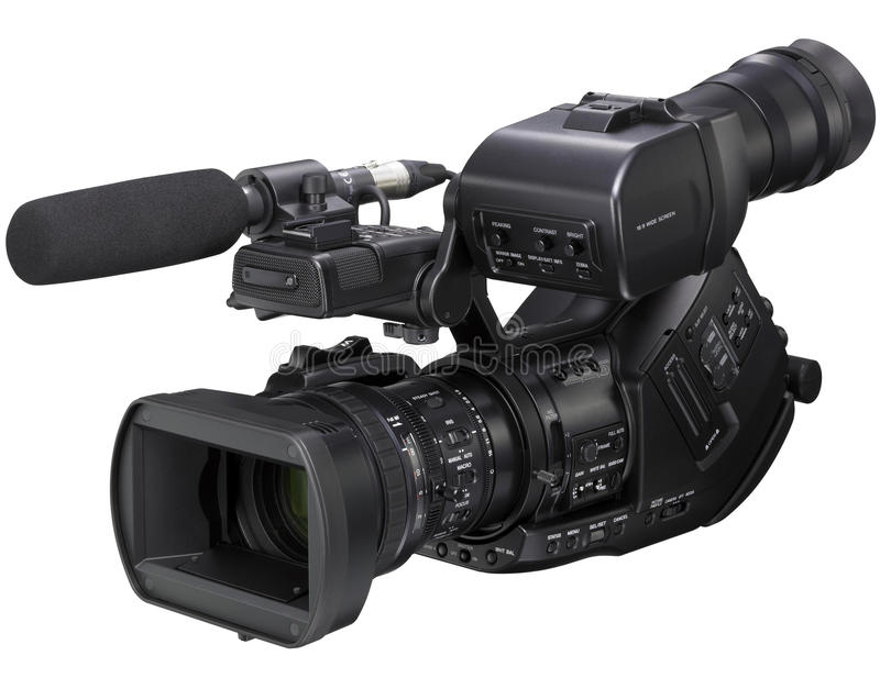 HD Video Camera on white background royalty free stock photos