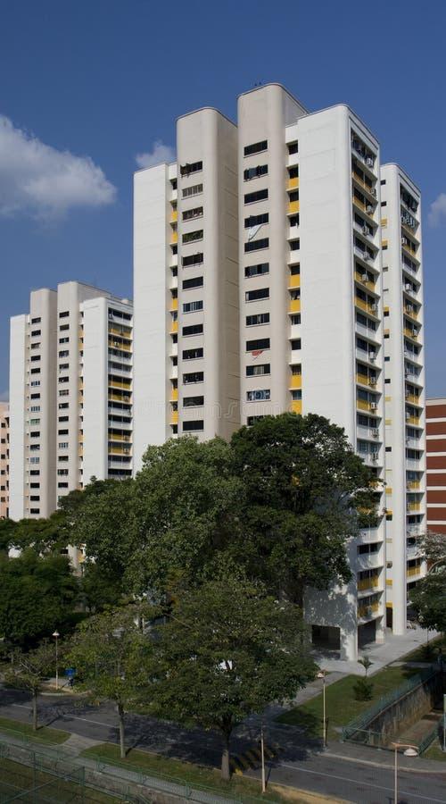HDB Ebenen in Singapur stockfotos