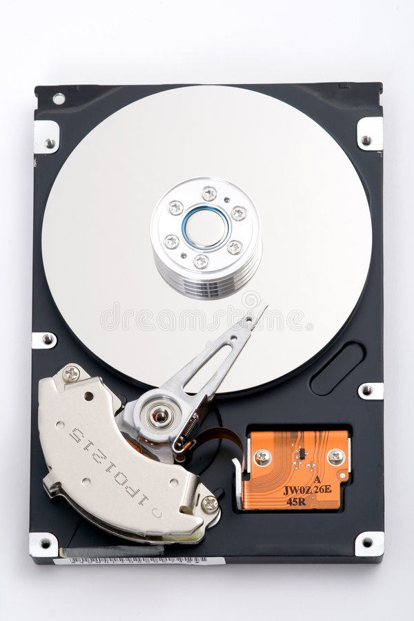 HDD. An opened hard disc drive stock images