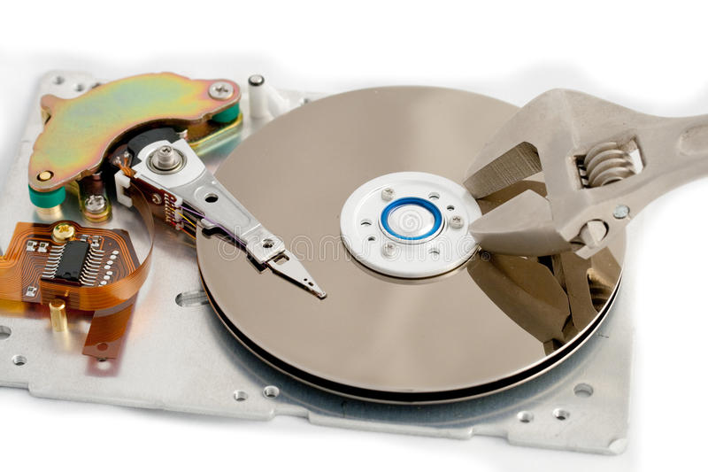 HDD. First aid for hard drives royalty free stock photography