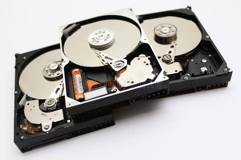 HDD-close-up royalty-vrije stock afbeelding