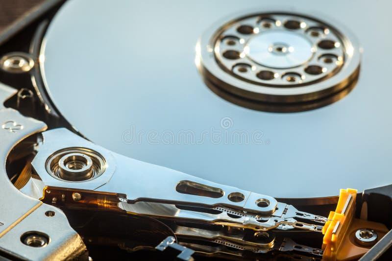 HDD części zakończenia wewnętrzny strzał obraz royalty free