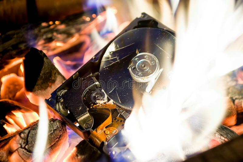 HDD está queimando-se imagem de stock royalty free