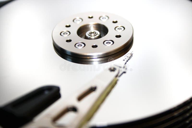 HDD - Ett hårddiskdrev är öppet royaltyfri bild