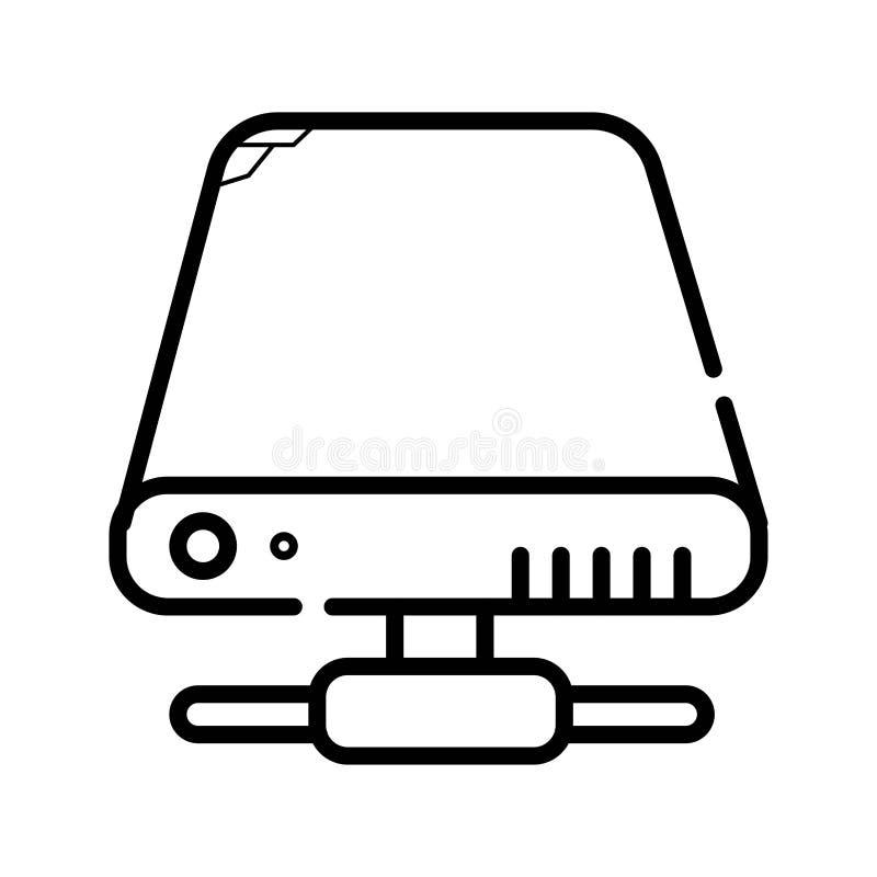 HDD icon vector vector illustration