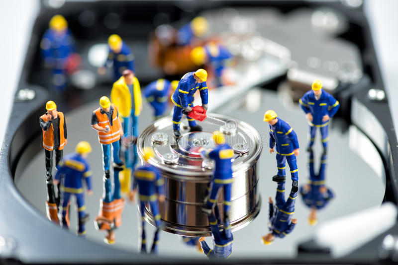 HDD repair. Technology concept. royalty free stock photography