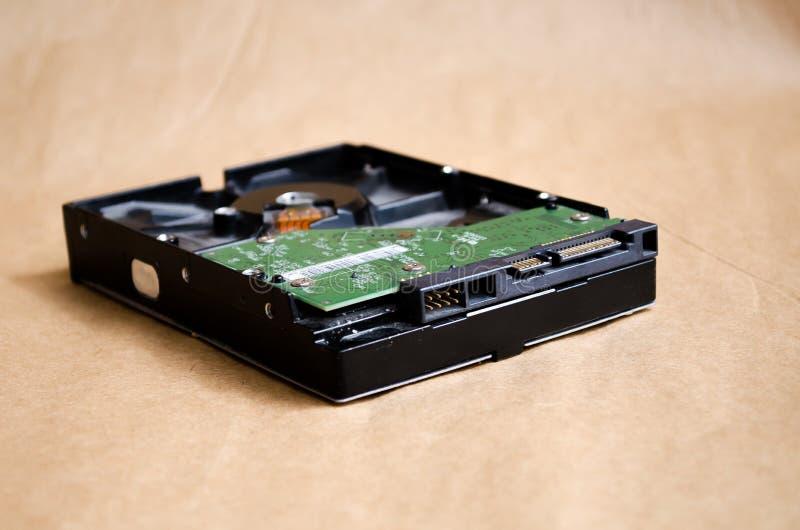 HDD Tecnologie dell'IT Disco per i dati di registrazione Cavo sul bordo Parti del calcolatore Componenti di computer Centro di Se fotografia stock