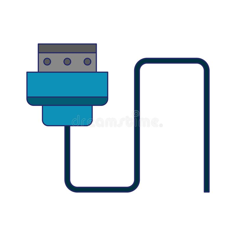 HDMI usb cable isolated. Vector illustration graphic design stock illustration