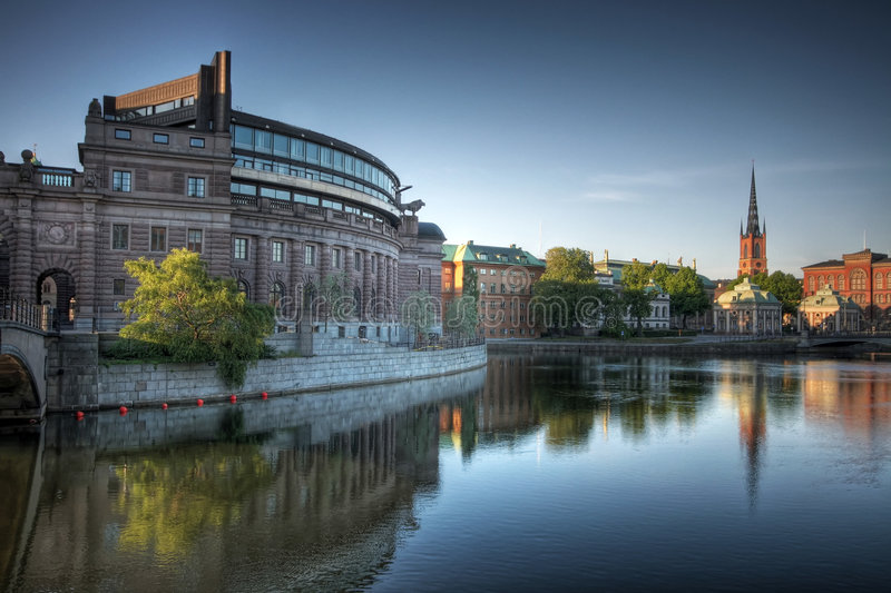 hdr斯德哥尔摩 免版税库存图片