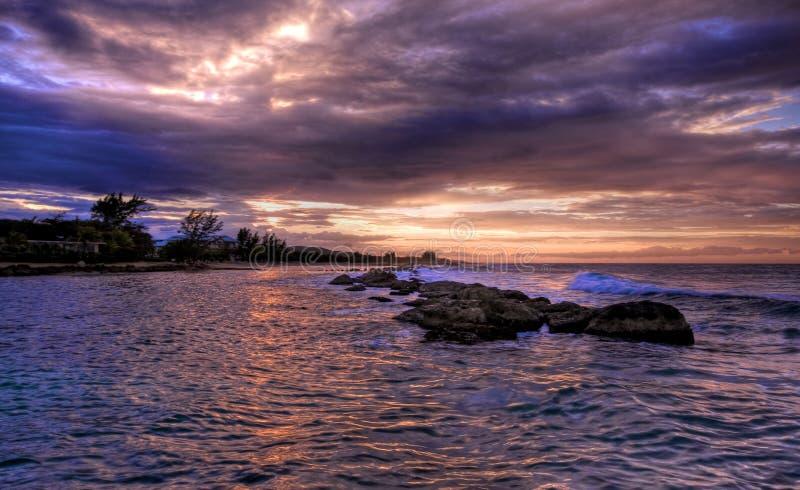 hdr τζαμαϊκανό ηλιοβασίλεμ&alph στοκ φωτογραφία με δικαίωμα ελεύθερης χρήσης