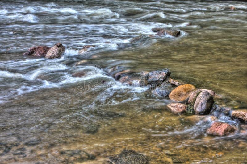 HDR речных порогов реки стоковые изображения
