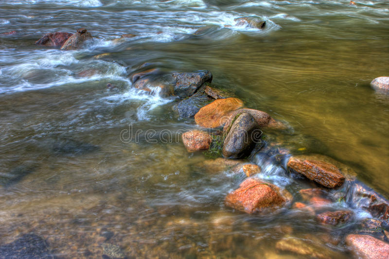 HDR речных порогов реки стоковое фото rf