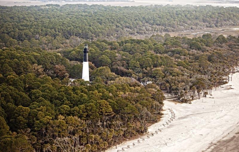 Hdr aérien de phare photographie stock libre de droits