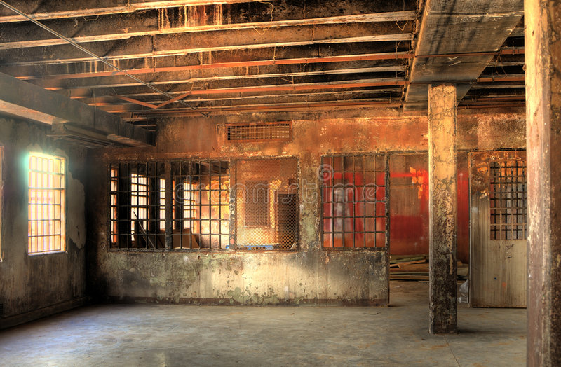 HDR of Abandoned Prison royalty free stock photo