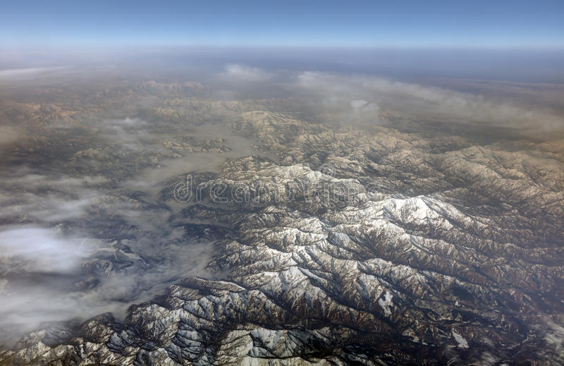 Download HDR Aerial Photo Of The Japanese Landscape With Clouds Mountains And Snowy