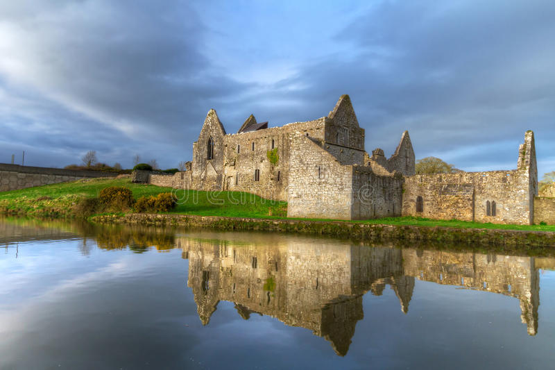 Download HDR Of Askeaton Friary With Reflection Stock Image - Image of 14th, castle: 23764737