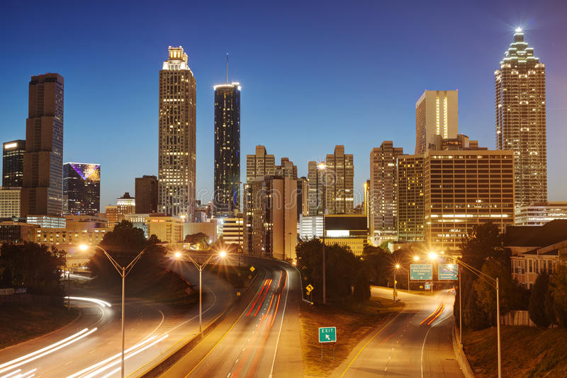 Download HDR of Atlanta stock image. Image of highway, night, high - 27582339