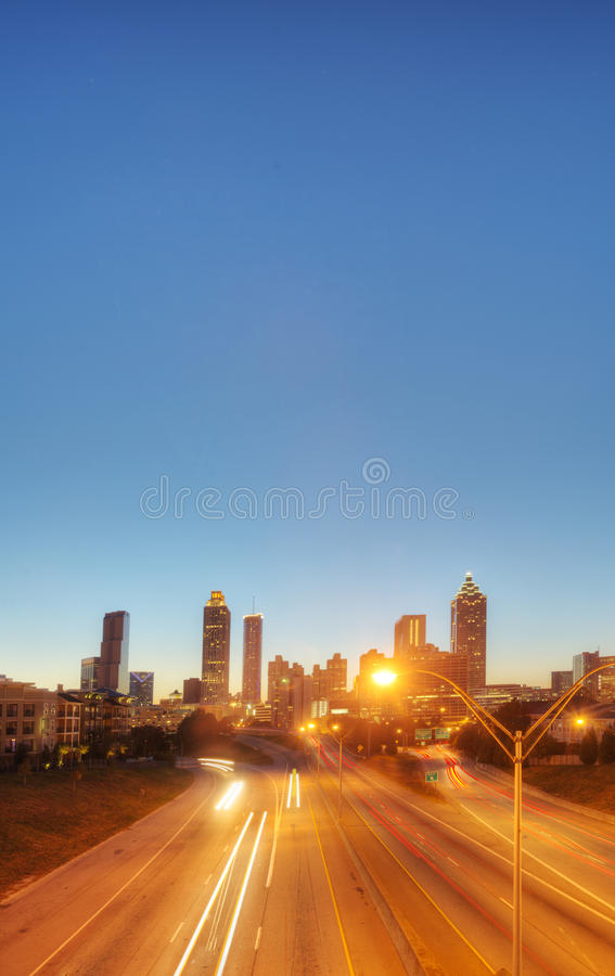 Download HDR of Atlanta stock photo. Image of night, atlanta, blue - 27582432