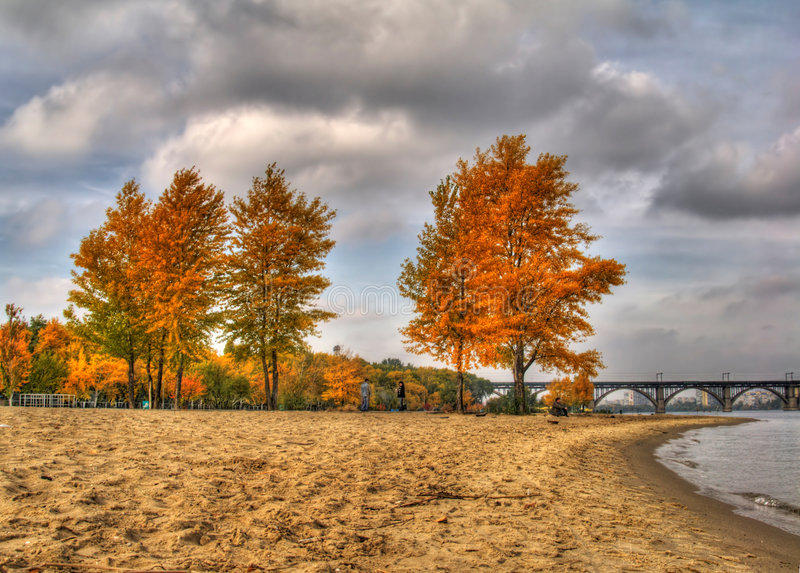 HDR autumn landscape royalty free stock photo