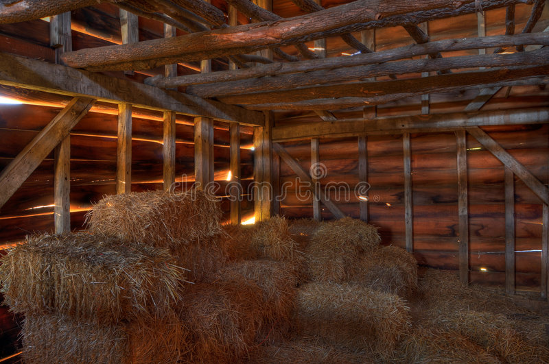HDR barn royalty free stock photos