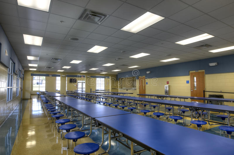 Download HDR of Cafeteria stock photo. Image of blue, stools, dining - 20808094