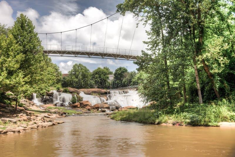 HDR cai parque em Reedy River fotografia de stock royalty free