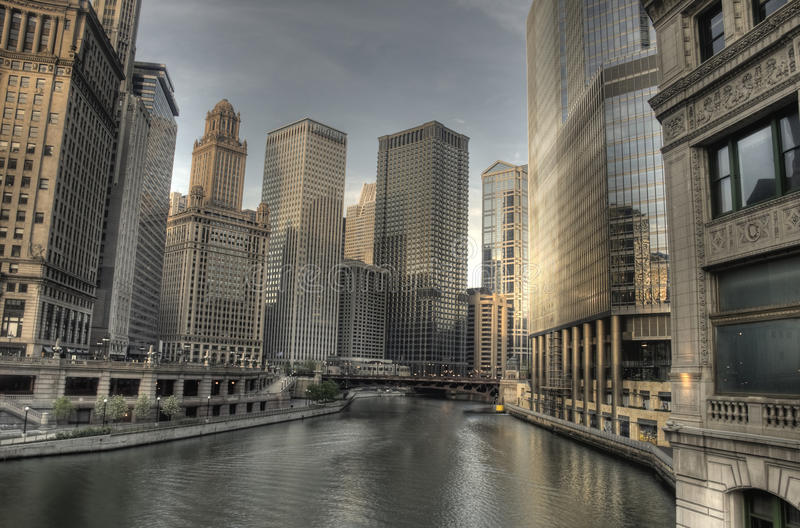 Download HDR Of Chicago In The Early Morning Stock Image - Image: 19520113