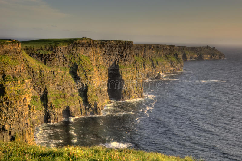 Hdr of the cliffs stock images
