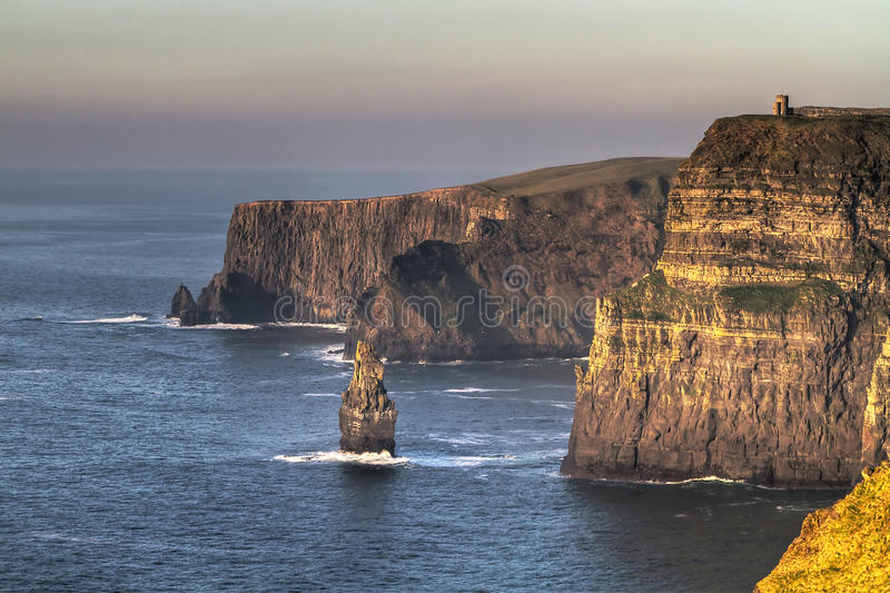 HDR of Cliffs of Mother stock photography
