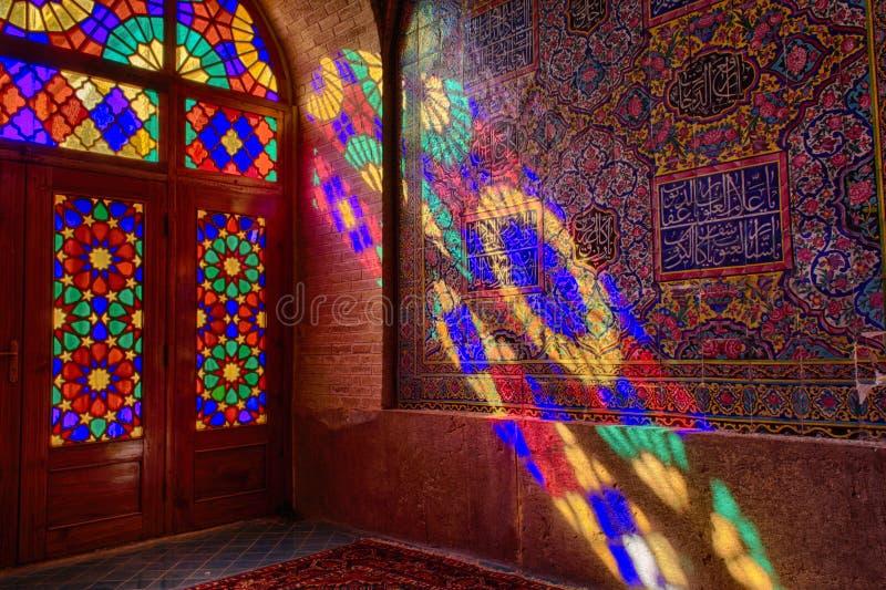 HDR de Nasir al-Mulk Mosque em Shiraz, Irã foto de stock