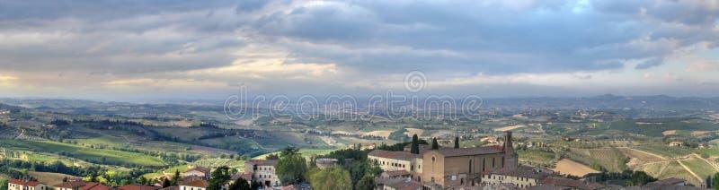 Hdr de pano de San Gimignano image stock