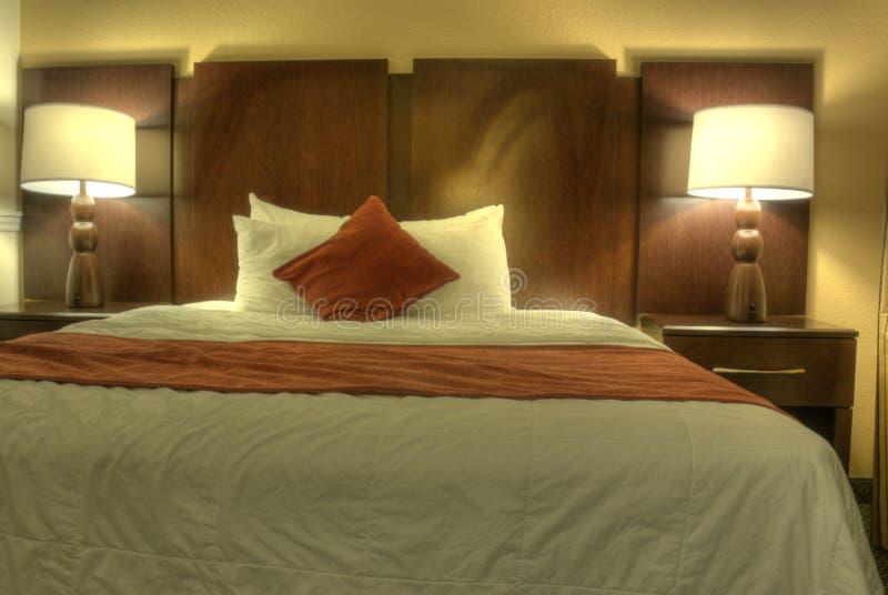 HDR des Hotelzimmers lizenzfreies stockfoto