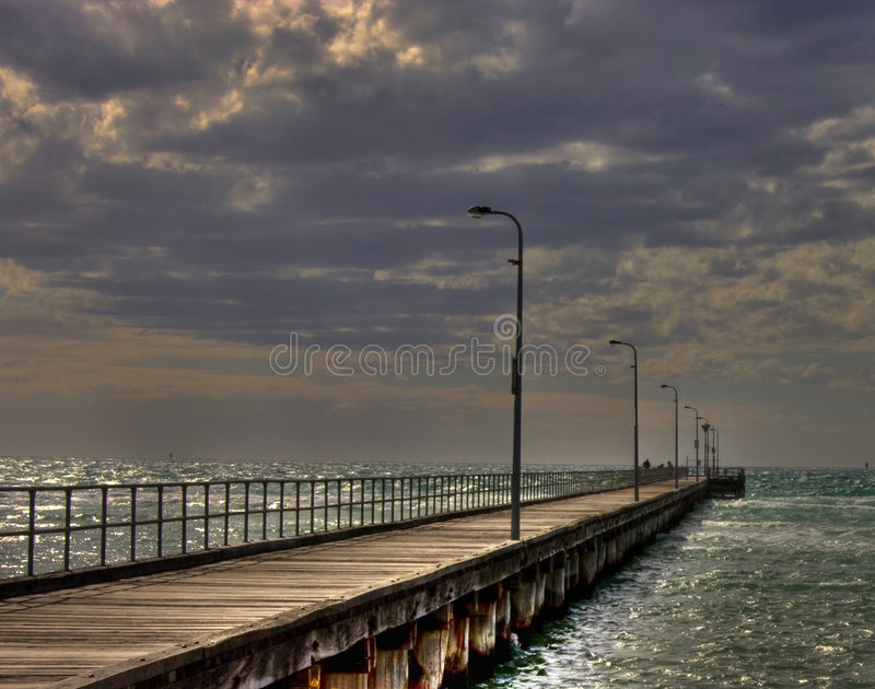 HDR des Rosebud-Piers stockbild