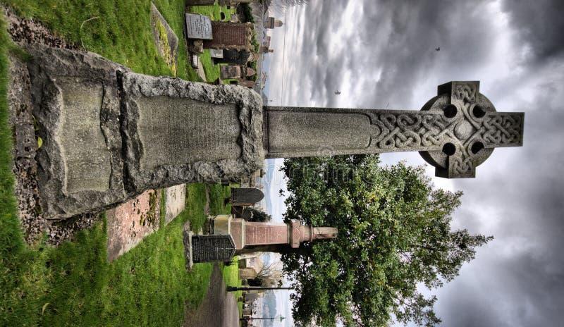 hdr för celtic kors arkivbild