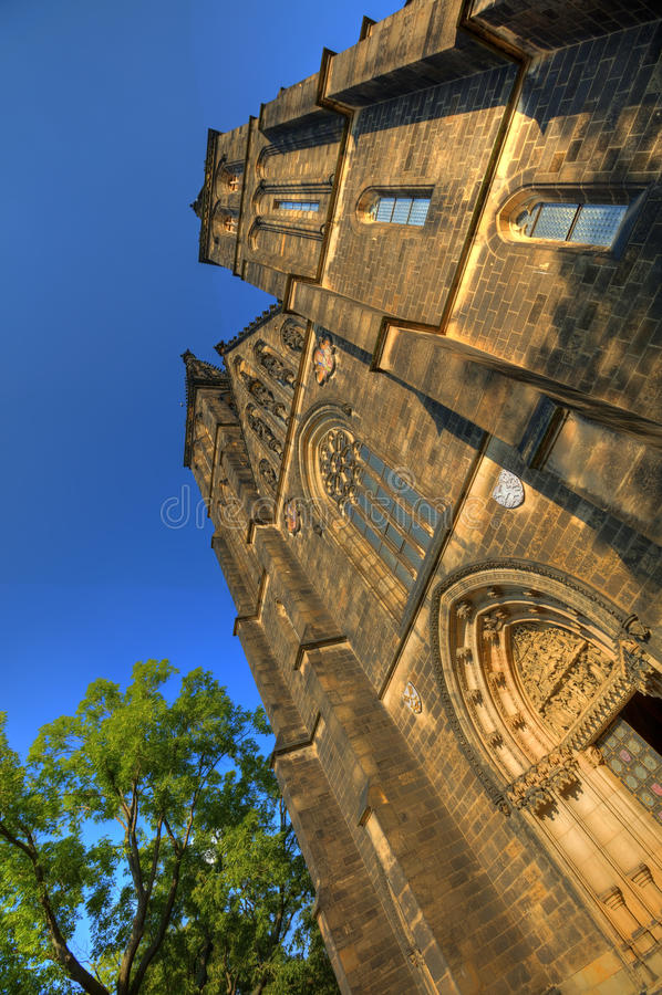 HDR fotografia piękna stara bazylika święty Peter i Saint Paul, Vysehrad, Praga, republika czech fotografia royalty free