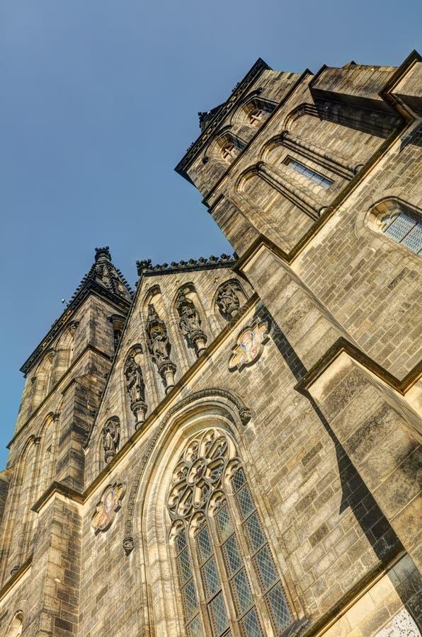 HDR fotografia piękna stara bazylika święty Peter i Saint Paul, Vysehrad, Praga, republika czech obrazy royalty free