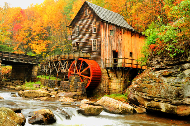 Download HDR Grist Mill In Fall Colors. Stock Image - Image: 24012871