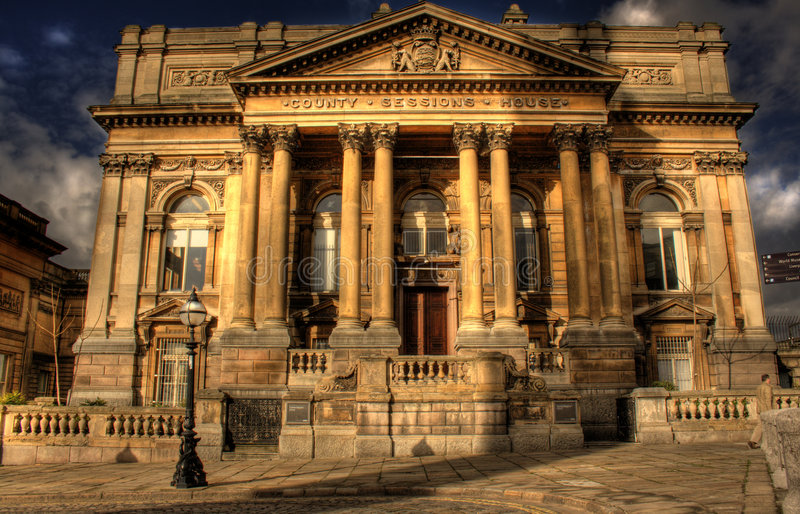 Download HDR Image Of County Sessions House Liverpool Stock Image - Image of pillar, court: 5306907